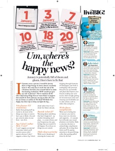 Cosmopolitan feature on being happy