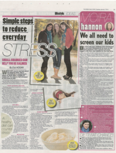 Irish Daily Star - simple steps to reduce everyday stress