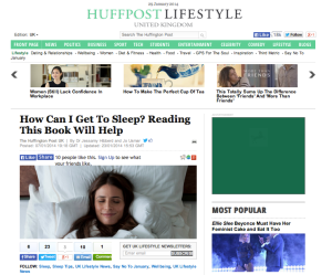 Huff Post Sleep feature