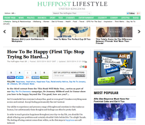 Huff Post Happy feature