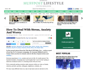 Huff Post stress feature