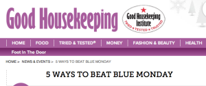 Good Housekeeping Blue Monday feature