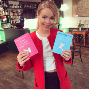 Katie Piper pictured with our new books!